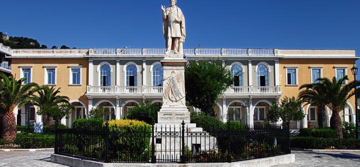 ZAKYNTHOS:  Dionizos Solomos- autor greckiego hymnu, zakintyjczyk, owoc zakazanej miłości.
